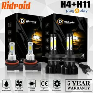 Combo Led Headlight Hi low Beam fog Light Bulbs Kit For Toyota Tacoma 2012 2015
