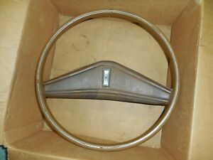 Oem Tan 1970 72 Oldsmobile F 85 Cutlass Steering Wheel W Horn Pad