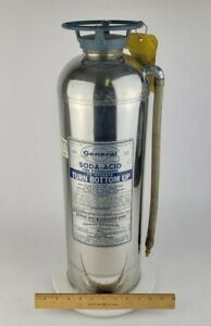 General Soda acid Fire Extinguisher Ss 15b Stainless Steel Tank Gas Steampunk