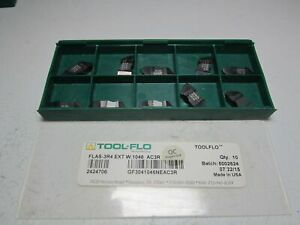 Tool flo 2424706 Flas 3r4 Ext W 1046 Ac3r Carbide Threading Insert Pack Of 10