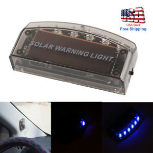 Car Solar Power Led Fake Dummy Alarm Warning Security Anti Theft Flashing Light