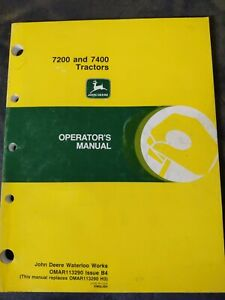 John Deere 7200 And 7400 Tractors Operators Manual
