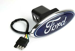 Reese Towpower Ford Oval Lighted Hitch Cover With Chrome Finish
