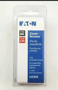 Eaton Lccscs Pack Of 6 Panel Cover Screws For Type Ch Br Load Centers