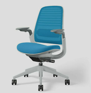 Steelcase Series 1 Work Chair 3d Knit Blue Jay Seagull