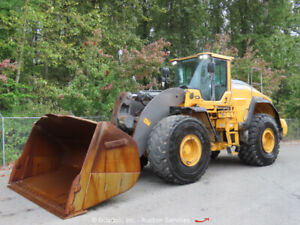2014 Volvo L250h Articulated Wheel Loader A c Cab Tractor Auto lube Bidadoo