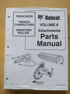 Bobcat Trenchers Trench Compactors Vibratory Roller Volume 6 Attechments