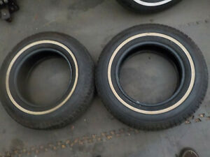 P205 70r14 Tires 14 Whitewall Good Tread Road Worthy