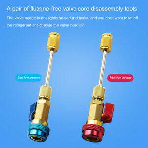 2pcs set Air Conditioning Valve Core Remover Installer Tool High Low Pressure