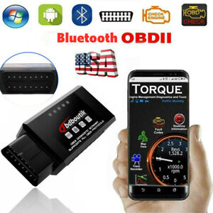 Code Reader Obd2 Car Bluetooth Scanner Elm 327 Obdii Automotive Diagnostic Tool