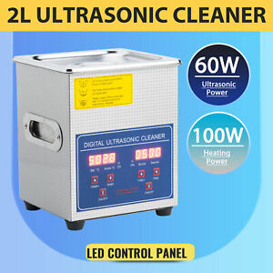 2l Commercial Ultrasonic Cleaner Electric Ultrasound Clean Machine Timer Heater