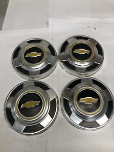 1973 1987 Chevy Truck K 10 1 2 Ton 2wd 10 3 4 Set Of 4 Dog Dish Hubcaps Oem 23