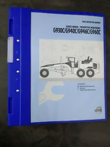 Volvo Construction Equipment G930c g940c g946c g960c Service Manual 3vol Set New