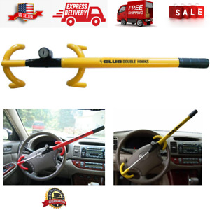 Car Steering Wheel Lock The Club Lock Security System Anti Theft Yellow