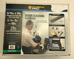 Cobra Pro cp2040 5 16 X 50ft Drain Cleaning Machine For 1 3 Pipes New