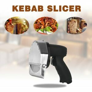 Electric Kebab Slicer Shawarma Cutter And Gyros Kitchen Knife With 2 Blades Meat
