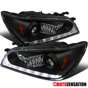 For 2001 2005 Lexus Is300 Black Led Strip Projector Headlights Left Right 01 05