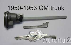 1950 1951 1952 1953 Cadillac Buick Pontiac Trunk Lock With Keys And Parts