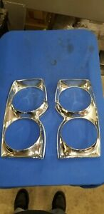 1965 Comet Headlight Doors Bezel Trim Tolding Matching Pair