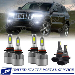 For Jeep Grand Cherokee 1999 2004 6x 6000k Led Headlights Fog Lights Bulbs S2