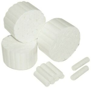 200pcs 2 Dental Cotton Rolls 100 Pure White High Absorbency Us Seller