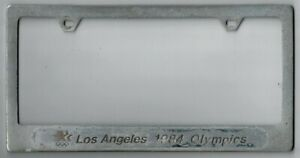 Vintage Los Angeles California 1984 Summer Olympics Sports License Plate Frame
