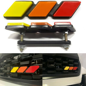 Tri Color 3 Grille Badge Emblem Sticker Fits For Toyota Tacoma 4runner Tundra