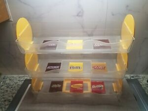 3 Tier Vertical Counter Shelves Candy Plastic Display Rack m m Dispenser Trays