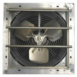 Dayton 484x38 Shutter Mount Exhaust Fan 12 Variable Speed 28285 Cfm
