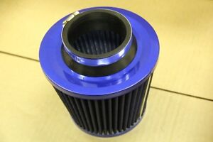 3 Blue Inlet High Flow Short Ram Cold Intake Round Cone Air Filter Red