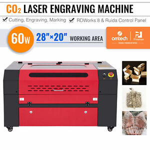 60w Laser Cutter Engraver Etcher With 28x20in Workbed Ruida Panel And Air Assist