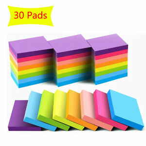 36 Pads Sticky Notes 1 5x2 Self stick Note Paper Multi Colors For School Office
