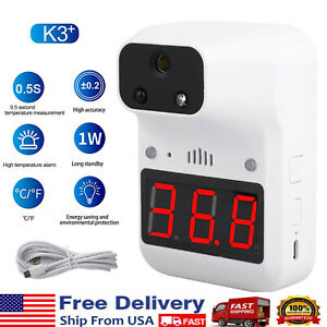 K3 Wall Mount Digital Infrared Thermometer Automatic Non Contact Forehead Scan