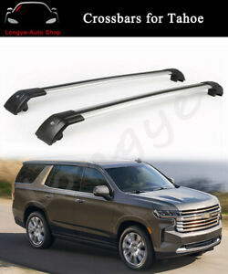 Crossbar Cross Bars Fits For Chevrolet All New Tahoe 2021 Roof Rack Rail Carrier