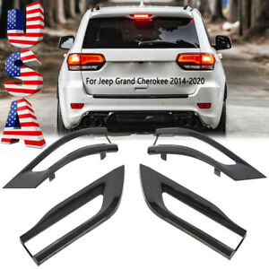 High Quality For Jeep Grand Cherokee 2014 2020 Gloss Black Tail Light Trim Bezel