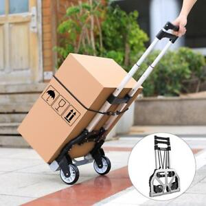 170lbs Collapsible Cart Folding Dolly Trolley Push Hand Truck Moving Warehouse