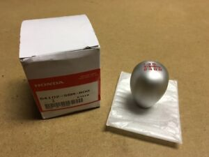 New Oem Rsx Honda Civic Si S2000 Aluminum 6mt Shift Knob W Red Lettering Jdm