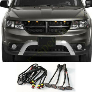 4x For Dodge Journey 2009 2020 Front Grille Led Light Raptor Style Grill Cover