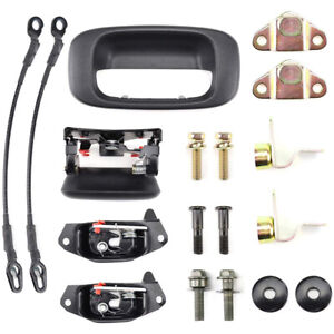 Tailgate Handle Hinge Latch Striker Cable Kit For Silverado Sierra Cadillac