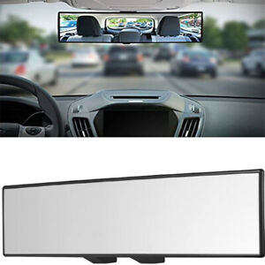 300mm Curved White Mirror Wide Angle Bright Interior Rearview Mirror Universal