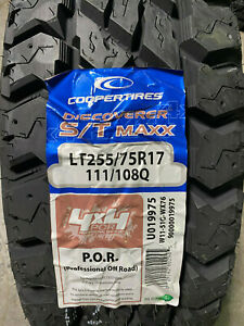 5 New Lt 255 75 17 Cooper Discoverer S T Maxx 6 Ply Mud Tires