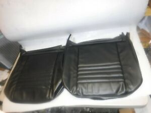 1967 Chevelle El Camino Front Bucket Bottom Seat Covers Black