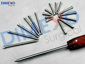 Orthopedic Safety Locking Screws 5 0mm Self Tapping 220 Pcs Surgical Instruments