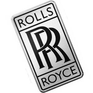 Car Radiator Small Rr Logo Emblem Badge Silver Black Color For Rolls Royce