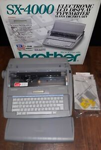 Brother Sx 4000 Electronic Lcd Display Typewriter With Dictionary New