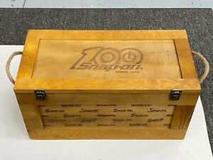 Snap On Tools New 100th Anniversary Wood Storage Crate Box Limited Collectible