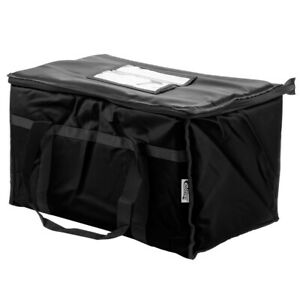 Insulated Catering Delivery Chafing Dish Food Full Pan Carrier Black Bag Storage