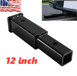 12 Hitch Extender Extension Towing Trailer Extension Tube Rack Adapter Trailer