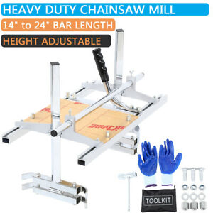 14 24 Portable Chainsaw Mill Chain Saw Milling Aluminum Planking Lumber Samger