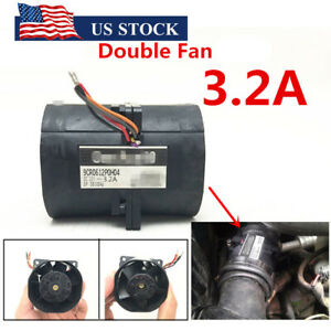 12v 3 2a Car Auto Electric Turbine Turbo Double Fan Super Charger Boost Intake